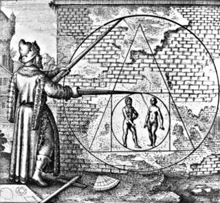 Emblem 21 from 'Atalanta fugiens' by Michael Maier, combining music, image and text to communicate alchemical knowledge to adepts (Oppenheim, 1617)
